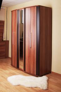 Шкаф 2-х дверный гармошка Резидент 4-7201