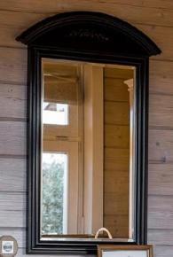 Прованс Зеркало подвесное из дерева (черное состареное)