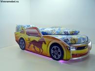 Кровать Мустанг Премиум Желтая