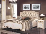 Карина -3 (беж) Кровать 2-х спальная без лежака, без матраца (2 спинки+мягкий элемент)