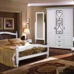 Спальня Глория 8 (отделка белая)