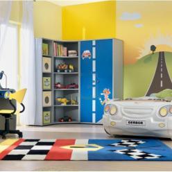"""Детская комната """"Лео"""" (кровать - машинка белая) (Гера (BRW))"""