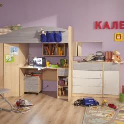 """Детская """"Калейдоскоп"""" (Комплектация №1) (Глазов-мебель)"""