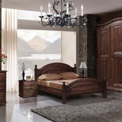 Спальня Лотос (брашированная сосна мокко) (БобруйскМебель)