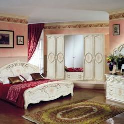 Спальня Роза с 6-ти дверным шкафом (Диа)