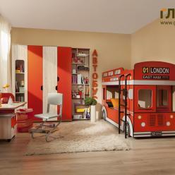 Детская комната «Автобус»  (Глазов-мебель)