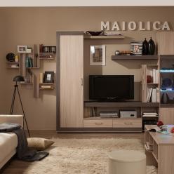 Гостиная «Maiolica» (Майолика). Компоновка 1 (Глазов-мебель)