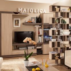 Гостиная «Maiolica» (Майолика). Компоновка 2 (Глазов-мебель)