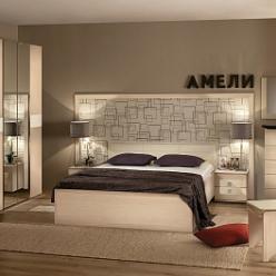 """Спальня """"Амели"""" Компоновка 1 (Глазов-мебель)"""