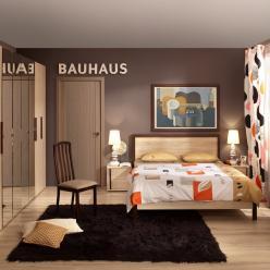 Спальня (Баухаус) BAUHAUS. Компоновка 2 (Глазов-мебель)