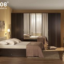 Спальня BERLIN (Берлин). Вариант компоновки 1 (Глазов-мебель)