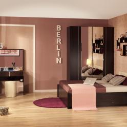 Спальня BERLIN (Берлин). Вариант компоновки 2 (Глазов-мебель)