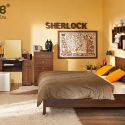 Спальня SHERLOCK (Шерлок). Компоновка 3 (Глазов-мебель)