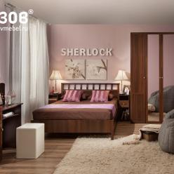 Спальня SHERLOCK (Шерлок). Компоновка 4 (Глазов-мебель)