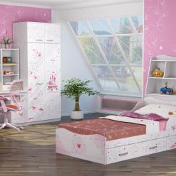 Детская комната «Принцесса». Компоновка 1 (Ижмебель)