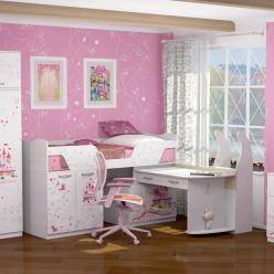 Детская комната «Принцесса». Компоновка 2 (Ижмебель)