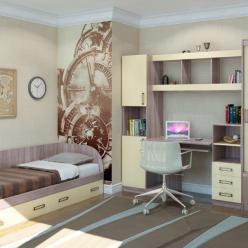 Детская комната «Престиж-3». Компоновка 1 (Кентавр 2000)