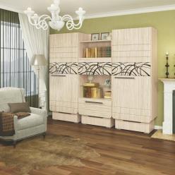 Гостиная Адель (вариант 1) (МСТ Мебель)