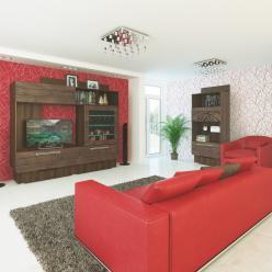 Гостиная Адель (вариант 3) (МСТ Мебель)