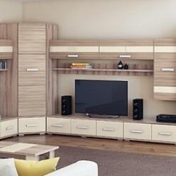 Гостиная «Кристалл» (Комплектация 1) (МСТ Мебель)