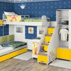Детская комната «Умка». Комплектация 2 (МСТ Мебель)