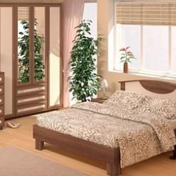 Спальня «Карина Люкс» (слива валлис) (МСТ Мебель)