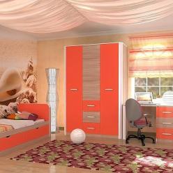 Детская комната Артек (оранж+ясень шимо светлый) (Сильвa)