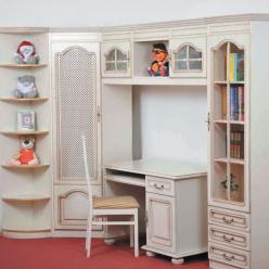 Детская комната  Вилия  (эмаль золотая) (Вилейская мебельная фабрика)