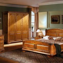 """Набор мебели для спальни """"Провинция"""" (массив березы) (Лидская)"""