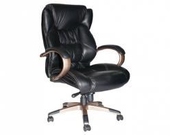 Кресло 9587 L кожа черная  (Дик-мебель)