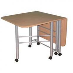 Стол складной-книжка, прямоугольный Венеция-003 К на колесных опорах  (МегаЭлатон)