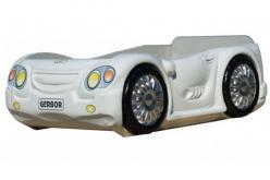 Кровать-машина Лео с матрацем Арт. Л-16 (белая) (Гера (BRW))