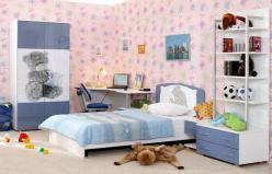 """Детская комната """"Бьянка"""" (синий мишка) (Ижмебель)"""