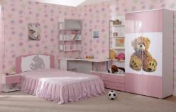"""Детская комната """"Бьянка"""" ( мишка розовый ) (Ижмебель)"""