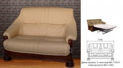Диван-кровать 2-х местный Цезарь (французская раскладушка) (БобруйскМебель)