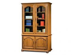 """Шкаф для книг с витриной 1220 """"Давиль"""" ММ-126-11 (Молодечномебель)"""