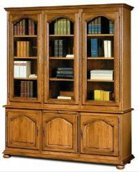 """Шкаф для книг с витриной 1230 """"Давиль"""" ММ-126-12 (Молодечномебель)"""