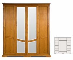 """Шкаф для одежды """"Лика"""" (4-дверный) ММ-137-01/04 (Молодечномебель)"""