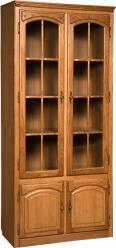"""Шкаф с витриной библиотека """"Элбург"""" БМ-1747 (БобруйскМебель)"""