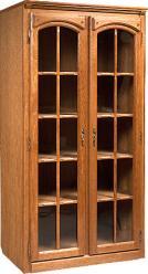 """Шкаф с витриной """"Элбург"""" (двери стеклянные, полки деревянные) БМ-1442 (БобруйскМебель)"""