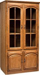 """Шкаф с витриной """"Элбург"""" (двери стеклянные, полки деревянные) БМ-1443 (БобруйскМебель)"""