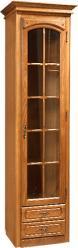 """Шкаф с витриной """"Элбург"""" (левая дверь, полки деревянные) БМ-1384-02 (БобруйскМебель)"""