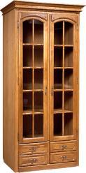 """Шкаф с витриной """"Элбург"""" (полки стеклянные) БМ-1440 (БобруйскМебель)"""
