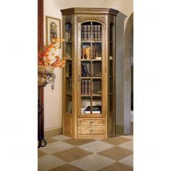 """Угловой шкаф - витрина """"Элбург"""" (правая дверь, полки деревянные) БМ-1394-03  (БобруйскМебель)"""