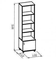 """Шкаф для книг 4 """"Элегия"""" (Глазов-мебель)"""
