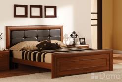 """Кровать """"Альба"""" с кожаным изголовьем 3117 (Дана)"""