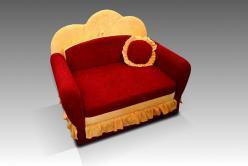 "Мини диван ""Цветочек"" (Малина)"