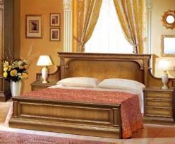 Кровать двухспальная Верона-27 М (лесной орех) (Минскпроектмебель)