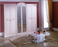 """Шкаф для спальни """"Декапе"""" №3 (6-ти дверный с зеркалом)  (Дана)"""