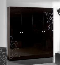"""""""Европа-9 (черный)"""" Шкаф 4-дверный без зеркал 091/642 (Ярцево)"""